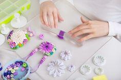 Λουλούδια από πολυμερή πηλό με κουπ πατ♥
