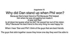 He also had to stand up to let Phil out of his seat but let's go with the other explanation because he did stay standing for a bit