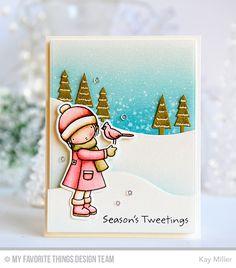 Handmade card from Kay Miller featuring Pure Innocence Season's Tweetings