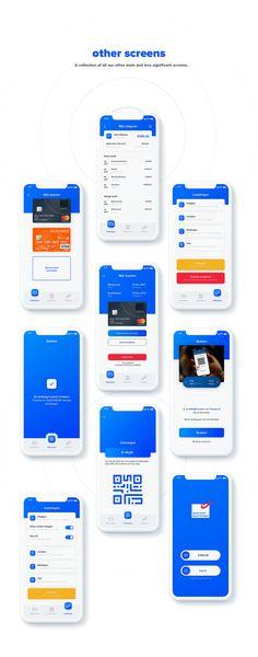 Bpost banking app on Behance – Design Iphone App Design, Android App Design, App Ui Design, Mobile App Design, Design Design, Android Apps, Profile App, Restaurant App, Calendar App