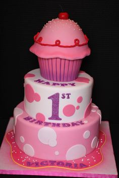 Pinkalicious Cupcake Birthday Cake