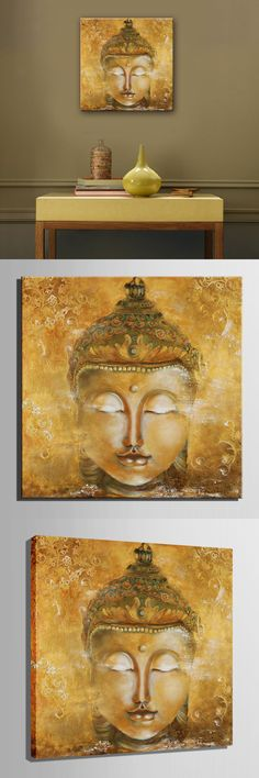 MINI SIZE Free Shipping Hand Painting Oil Painting Buddha Decoration Painting One Pcs Home Decor Modern Wall Prints $24