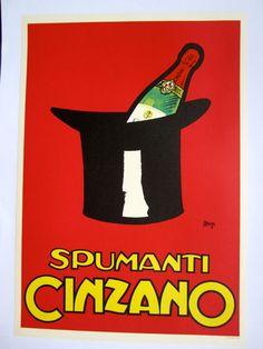 Original Vintage Spumanti Cinzano Poster, C.1955, Italy