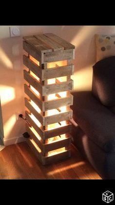 Pallet Lamp Idea