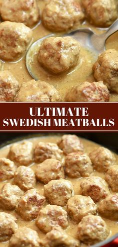 Get the recipe and tips for the ultimate Swedish Meatballs ready in 30 minutes! Super juicy, tender, and flavorful, these meatballs smothered in cream sauce are sure to be a family favorite.