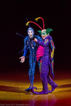 Bug costume with double elf shoes. Cirque Du Soleil Ovo