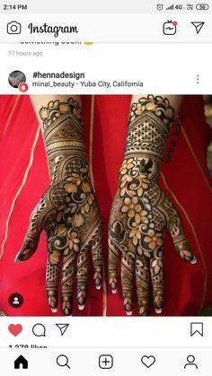 Latest Bridal Mehndi Designs, Floral Henna Designs, Henna Art Designs, Mehndi Designs For Girls, Stylish Mehndi Designs, Mehndi Designs For Beginners, Dulhan Mehndi Designs, Mehndi Design Pictures, Wedding Mehndi Designs