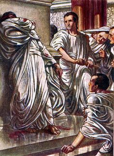 The Assassination of Julius Caesar, from Stories from Roman History by Lena Dalkeith.  Click image to read it at heritage-history.com