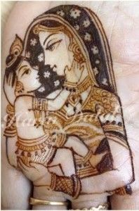 godh bharai mehndi design bal krishna