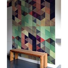 Pattern Wall Tiles bring bursts of pattern into standard home and office spaces in a whole new way. With Pattern Wall Tiles, you can create an accent over a bed, on an interior door or frame a small s Pattern Wall, Wall Patterns, Pattern Ideas, Graphic Patterns, Geometric Wall, Geometric Designs, Geometric Shapes, Geometric Furniture, Patterned Wall Tiles