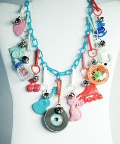 '80s plastic charm necklace