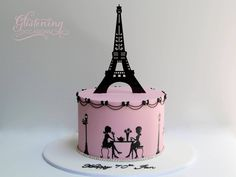 Designed based on our favourite landmark in the world, The Eiffel Tower. Designed to fit within a cake. Paris Birthday Cakes, Paris Themed Cakes, 12th Birthday Cake, Paris Cakes, Birthday Cake Girls, Birthday Ideas, Beautiful Cakes, Amazing Cakes, Pretty Cakes