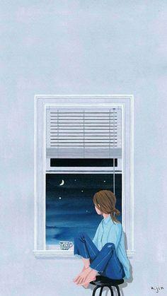 Anime Scenery Wallpaper, Aesthetic Pastel Wallpaper, Cute Wallpaper Backgrounds, Cute Cartoon Wallpapers, Aesthetic Wallpapers, Cute Girl Wallpaper, Kawaii Wallpaper, Cover Wattpad, Digital Art Girl