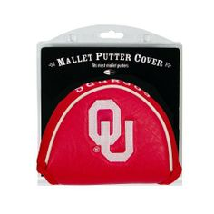 NCAA Oklahoma Mallet Putter Cover by Team Golf. $16.16. Velcro closure. Made with Buffalo Vinyl and Polyester Knit. Fits most mallet putters. 2 location embroidery includes both logo and wordmark. Easily slips on and off the putter. Protect your putter while supporting your favorite collegiate team with this officially licensed NCAA® mallet putter cover from Team Golf. The cover fits most mallet putters and includes a fleece lining for extra club protection. ...