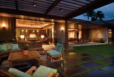 trellis | poured stones | outdoor living area