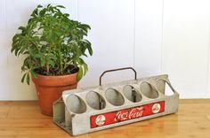 Vintage #Coca-Cola Bottle Carrier 12 Pack Aluminum Coke Holder Vendor #Caddy Carry Case #1950's #MidCentury #Industrial Soda Collectible by TheVelvetBranch on Etsy