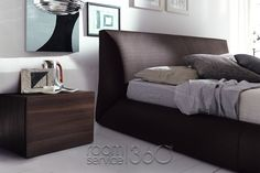 Coco Platform Bed Close Up with Start Nightstands by Rossetto Upholstered Platform Bed, Upholstered Beds, Nightstands, Contemporary Furniture, Modern Design, Bedroom, Home Decor, Decoration Home, Room Decor