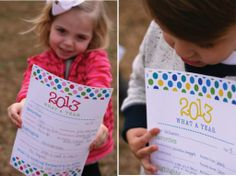 2013 in review printable for kids