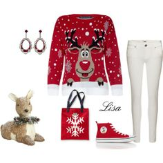 """Ugly Christmas Sweater"" by coolmommy44 on Polyvore"