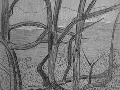 """SERUSIER Paul - Le Verger (Louvre RF40965-Recto) - Detail 10  -  TAGS/ details détail détails detalles drawing drawings dessins dessin croquis étude study studies sketch sketches """"dessins 19e"""" """"19th-century drawings"""" croquis étude study studies sketch sketches """"dessin français"""" """" French drawings"""" """"peintres français"""" """"French painters"""" Louvre Paris France Musée museum arbres tree trees trunk orchard grove nature"""