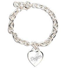 WANT! $20 Los Angeles Dodgers Heart Charm Bracelet - MLB.com Shop
