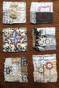 text on textiles in black and white and by janelafazio, via Flickr