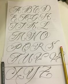 Zeichnung Tattoo Chicano Ink 36 Trendy Ideas Source by Calligraphy Fonts Alphabet, Tattoo Fonts Alphabet, Tattoo Fonts Cursive, Hand Lettering Alphabet, Graffiti Alphabet, Tattoo Script, Calligraphy Tattoo Fonts, Tattoo Lettering Styles, Graffiti Lettering Fonts