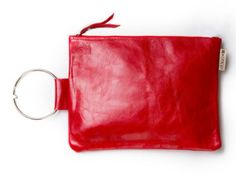 Red leather clutch- Leather wristlet purse - Leather bracelet bag - Metal ring in Nickel color - Summer SALE - Leather Zipper Pouch Leather Clutch Bags, Clutch Purse, Leather Purses, Red Leather, Luxury Bridesmaid Gifts, Bridesmaid Clutches, Wedding Bag, Wedding Clutch, Quilts