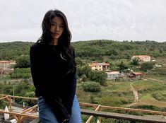 She is more beautiful than the view