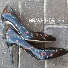 Custom Hand Painted Heels. Math Equation Pumps. by BraveStrides