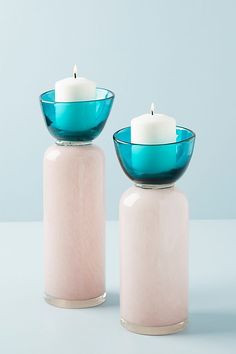 Colorblocked Candle Holder | Anthropologie