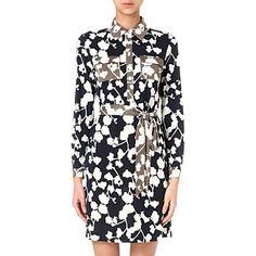 DIANE VON FURSTENBERG Grace orchid shirt dress (Orchid silhou combo  Workwear, Grace O  e1b5737d1353