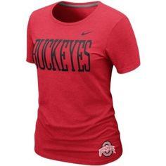 OHIO STATE BUCKEYES RED T-SHIRT.