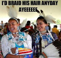 My mom used to braid my dad's hair everyday! :)