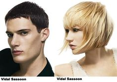 RIP Vidal Sassoon Amazing 5 Point Asymmetrical Candy Colored Hair
