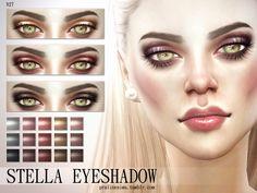 Smoky eyeshadow in 15 colors, all genders.  Found in TSR Category 'Sims 4 Female Eyeshadow'