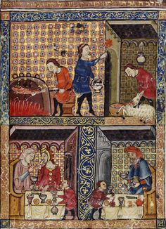 Rylands Haggadah,  Catalonia, ca 1330.