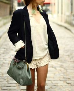 Lace shorts, with a classy work twist. wannnnt