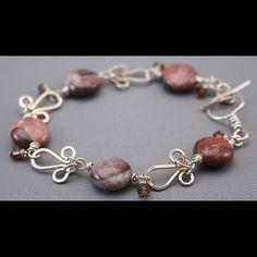 Triple Loop Links and Artistic Stone Bracelet by deliasdelight, via Flickr
