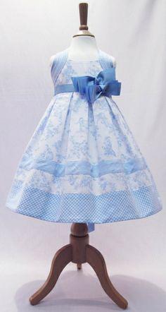 Abella Style AB5213 Pale Blue  White Boudoir Print Dress