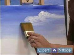 How to Paint with Acrylic Paint : How to Paint a Sky Using Acrylics - YouTube