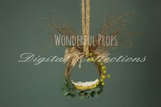 Wonderful Props - Forest Dream Hanging Nest - Digital Backdrop - Photo Prop for Newborn Photography