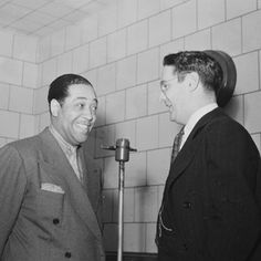 Portrait of Duke Ellington and William P. Gottlieb, WINX, Washington, D.C., ca. 1940  Photograph by William Gottlieb. Courtesy of the Library of Congress, Washington, D.C.  Featured in JAZZ: The Smithsonian Anthology