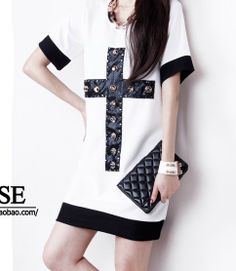 free shipping new 2014  top women  summer cross god dress vs blouses causal print simple good quality rivet ZR sexy