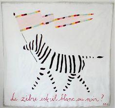 LE ZÈBRE est-il blanc ou noir? #art #illustration Gitte Brandt