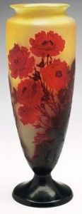 Galle Vase with Roses Design