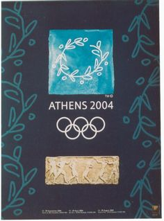 Poster for the Olympic Games 2004 Olympic Games should have been held in Athens in 1996 to commemorate the centenary of the modern Olympics ! 2004 Olympics, Summer Olympics, Summer Games, Winter Games, Volleyball Posters, Greek Design, Greek Culture, Sports Art, Vintage Travel Posters