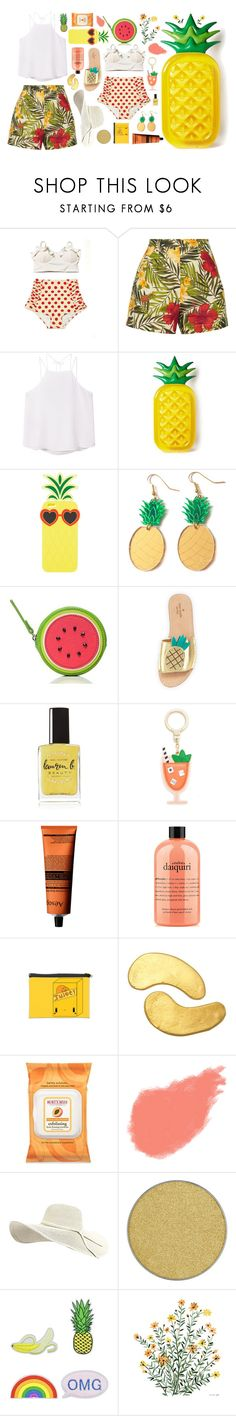 """""""tropical"""" by dffn-dn ❤ liked on Polyvore featuring Miguelina, MANGO, Charlotte Russe, Finest Imaginary, Kate Spade, Lauren B. Beauty, Aesop, philosophy, cutekawaii and MZ Skin"""