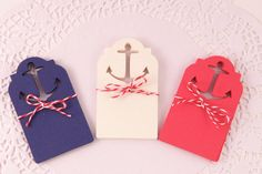 30 Nautical Anchor Gift/Favour Tags (Beach and Boat themed party favours. Perfect for Baby shower, Bridal Shower, Birthday Party or Wedding) on Etsy, $5.00
