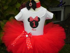 Custom Red Minnie Mouse Tutu Set Red Minnie Mouse by pinnyandtunny, @Dani Barringer @Rhonda Alp Nell